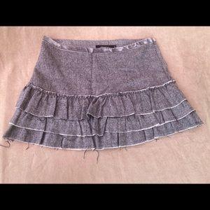 Arden B Ruffled Corduroy Mini Skirt